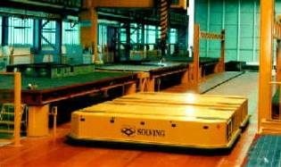 Automated Material Handling System for handling ship components in welding area
