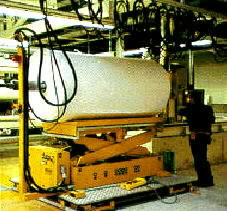 Lift and position Paper rolls - paper roll handler for roll paper roll material handling