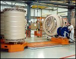 Core handling - handling windings for transformer industry. Heavy Electrical components handled on air bearings