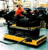 mobile lift tables, asssembly line air pallets are great production tools with omni-directional manueverability with vertical lift